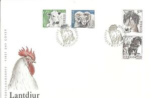 1994 Sweden- Animals - First Day Cover - Free UK P&P