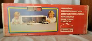 Vintage 70s Lundby of Sweden dollhouse Garage with Laundry Room