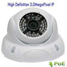 HD 5MP 2592x1920P PoE Onvif Dome Vandal Proof IP Security Camera 48IR Wide Angle