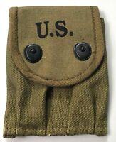 WWII US M1910 .45 PISTOL MAGAZINE AMMO BELT CARRY POUCH-OD#3