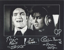 RICHARD KIEL & CAROLINE MUNRO Signed 10X8 Photo THE SPY WHO LOVED ME 007 COA