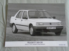 PEUGEOT 309 G Press Photo brochure 1990 texte allemand