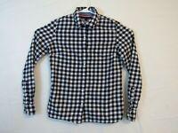 Tommy Hilfiger Juniors Blue and White Medium Button Up Shirt