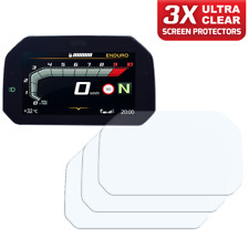 3 x BMW R1250GS 2018+ Connectivity Dashboard Screen Protectors: Ultra Clear