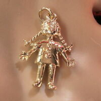 9ct gold new solid rag doll charm