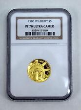 1986 W Liberty $5 NGC PF 70 Ultra Cameo Gold