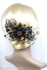 Haarkamm Kanzashi Haargesteck  Zopfhalter Satinblumen Stoffblumen Haarblüten