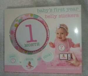 Stepping Stones - Baby's First Year Belly Stickers, Girl - NIP