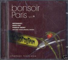 AA.VV.BONSOIR PARIS chanson française vol.3 CD Sealed