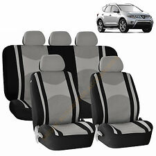 GRAY AIRBAG SEAT COVERS & SPLIT Bench 9pc SET FOR NISSAN MURANO SENTRA ROGUE