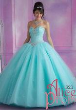 Aqua Beaded Evening/Prom/Wedding/Party/Bridal/Quinceanera dress/Formal/Ballgown