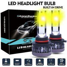 9005 HB3 9145 LED Headlight Bulbs High Beam Light Lamp Replace 100W 3000K Yellow