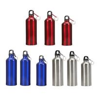 Aluminum Portable Outdoor Bike Sports Water Bottle Drinking Kettle with Lid D1B
