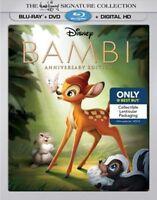 Bambi Signature Anniversary Edition Blu-ray/DVD Best Buy Lenticular Slipcover
