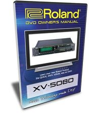 Roland XV-5080 DVD Training Tutorial Manual Help