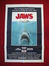 JAWS *1975 ORIGINAL MOVIE POSTER 1SH VINTAGE STEVEN SPIELBERG HALLOWEEN SHARK NM