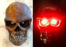 Skull Tail and Brake Light For Harley Chopper Motorcycles & Saddlebags -Red LEDs