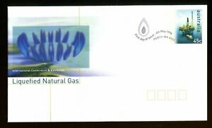 1998 Australia 45c Liquified Natural Gas FDC. Perth first day postal stationery