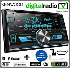 Kenwood DPX-7000DAB 2-DIN coche/van CD AUX USB MP3 Radio iPod DAB Bluetooth estéreo