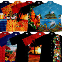Hawaii Hemd S - 6XL 100% Baumwolle Hawaiihemd Hawaihemd Hawaiishirt Hawaiihemden