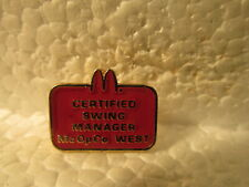 McDonald's Certified Swing Manager McOpCo West Red Badge Collectible Pin pin3437