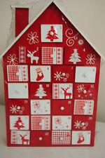 Adventskalender Holz Pajoma höhe 39 cm Weihnachtskalender mit Schubladen Haus 1