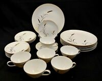 Correct Table Service CTS China Eternal Harvest 24 Piece Set White with Gold Vtg