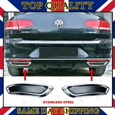 VW Passat B8 Exhaust Deflector Frame Chrome Trim 2 Pcs S.STEEL 2014 onwards