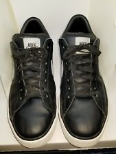 Nike  Sweet Classic Low black & white Leather Tennis Shoes Men's 12