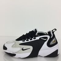 Nike Zoom 2K White Black Textile Sports Trainer Sneaker AO0354-100 UK 7.5 Eur 42