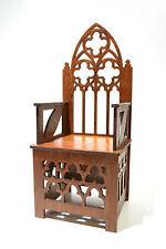 Gothic Throne for dolls 12 inch Furniture chair 1:6 Barbie FR OOAK NEW Diorama