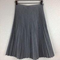 Jill Stuart Skirt Size 8 Gray Pleated A-Line Wool Blend Knee Length
