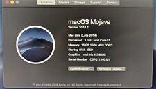 Mac Mini (late 2014) 3GHz i7, 16GB RAM, 1TB PCIe SSD, MacOS Mojave