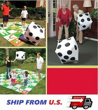 2 Giant Inflatable Blow-up Dot HUGE Dice Children Party Flavor Kid Pool Toy USA