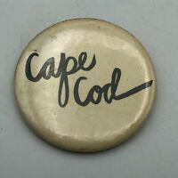 "Older Vintage CAPE COD Black + White 2-1/2"" Button Pin Pinback   S5"