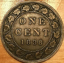 1888 CANADA LARGE 1 CENT PENNY LARGE 1 CENT COIN
