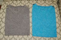 Lululemon Men's LOT of TWO METAL VENT TECH Shirts Sleeveless Large Gray/Blue