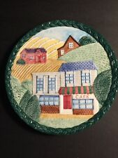 Fitz And Floyd Omnibus Town And Cafe Plate 9.5�