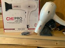 NEW Chi Pro LOW EMF Professional Hair Dryer - PEARL WHITE (2637)