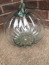 UNUSUAL GREEN GLASS DECORATIVE / DISPLAY /TABLE CENTRE PIECE