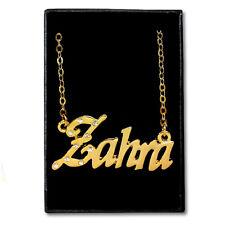 Chapado En Oro Con Collar de nombre-Zarah-Ideas de regalo para ella-Diseñador Aniversario
