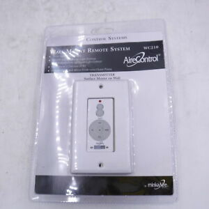 MinkaAire WC210 White Wall Mount Remote System 32 Bit Ceiling Fan Remote System