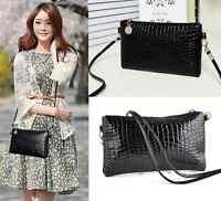 Women black Shoulder Bags Messenger Bag PU Leather Crossbody Bag Satchel Handbag