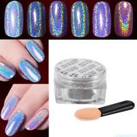 Magic 1g Holographic Nail Powder Unicorn Rainbow Pigment Powder Gel Polish NEW G