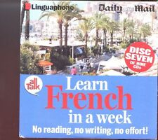 173   Promo CD   LEARN FRENCH IN A WEEK<>Disc 7 of 9 <>LINGUAPHONE<>