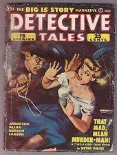 DETECTIVE TALES Mar 1949 Pulp Fiction Peter Paige Talmage Powell Francis Allan