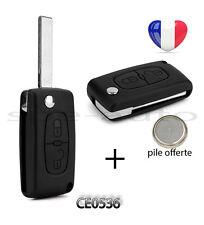 plip coque clé Peugeot 107 207 307 308 SW 407 807 Partner Expert 2 btons CE0536.