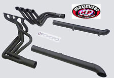Maximizer Blk Resonated Side Pipes Header FIT 65-74 Corvette 396 402 427 454 BBC