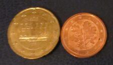 2 und 20 Cent Euro-Münze 2003 Prägestätte F Deutschland aus Umlauf