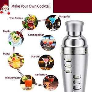Coctail Shaker Set Rotation Recipe Guide for 8 Bar Coctails Jigger 700ML 5pcs